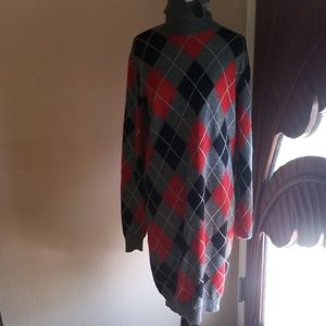 Beautiful Alexander McQueen argyle sweater dress L
